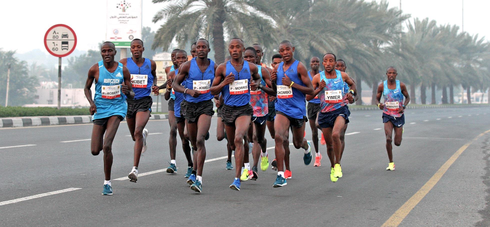 Morris Gachaga runs 59:36 in RAK Half