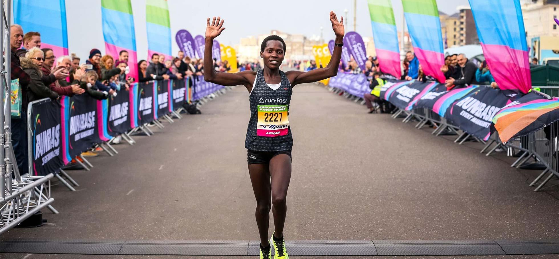 Lenah Jerotich Wins Brighton & Hove 10 Mile