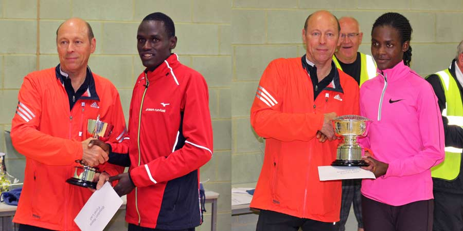 Boniface Kongin and Joan Chelimo at Blaydon Races