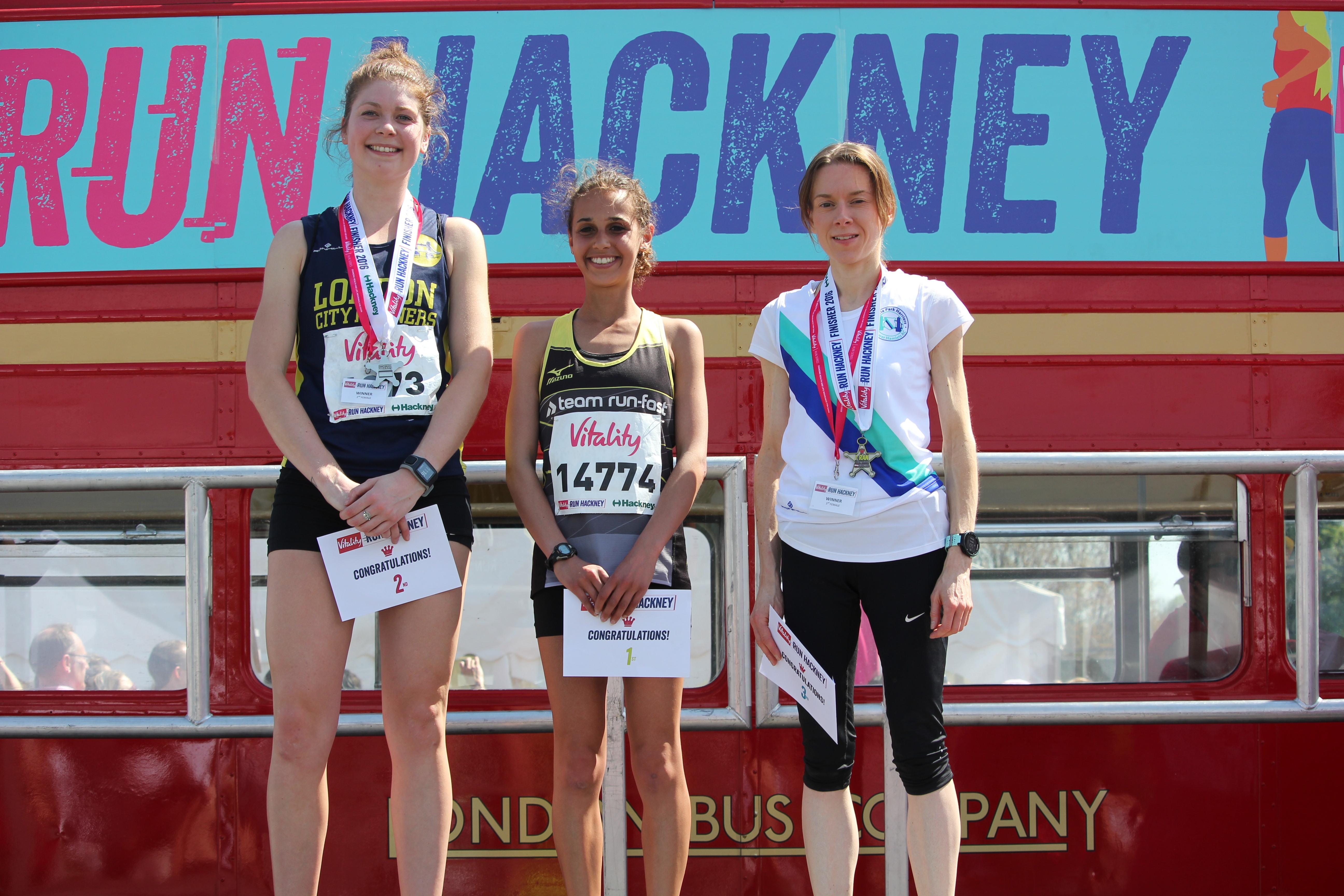 Hannah with Jess Fawcett (2nd) & Mandy Dohren (3rd)