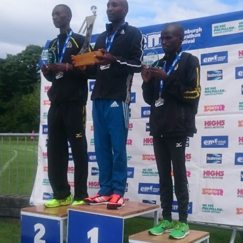 Team Run-Fast top the men's podium at Edinburgh Marathon